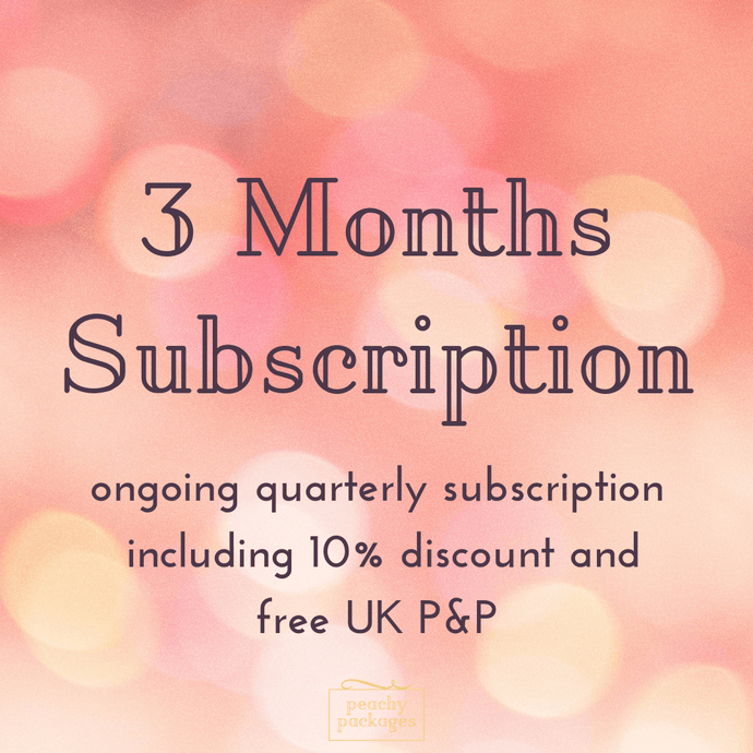 3 Month Peachy Package Subscription