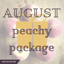 August 2018 Subscription Box Peachy Package with free UK P&P