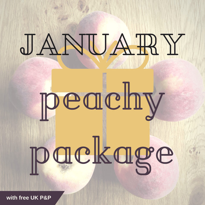 January peachy package with free UK P&P