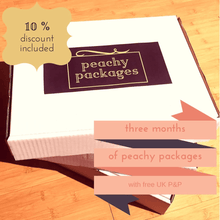 3 monthly PEACHY package subscription - Peachy Packages