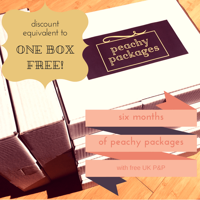6 monthly PEACHY package subscription - Peachy Packages