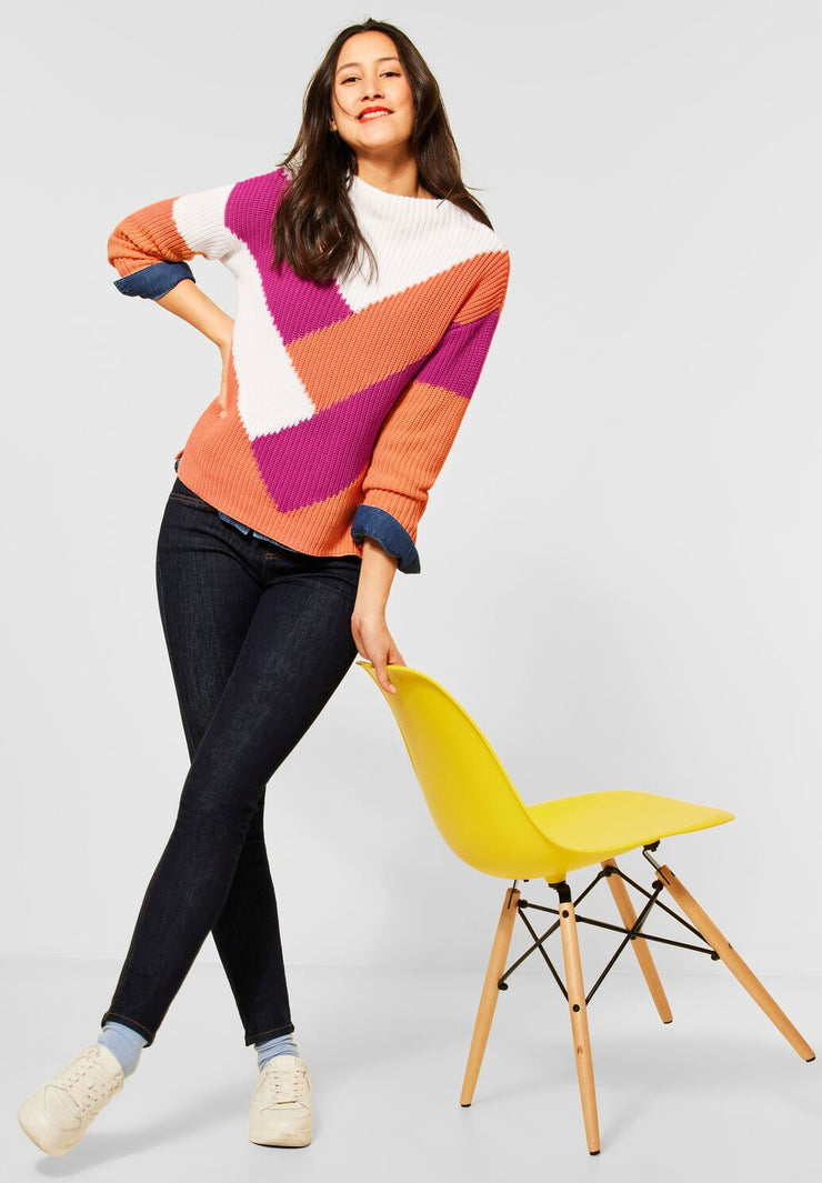 Street One - Colourblock pullover