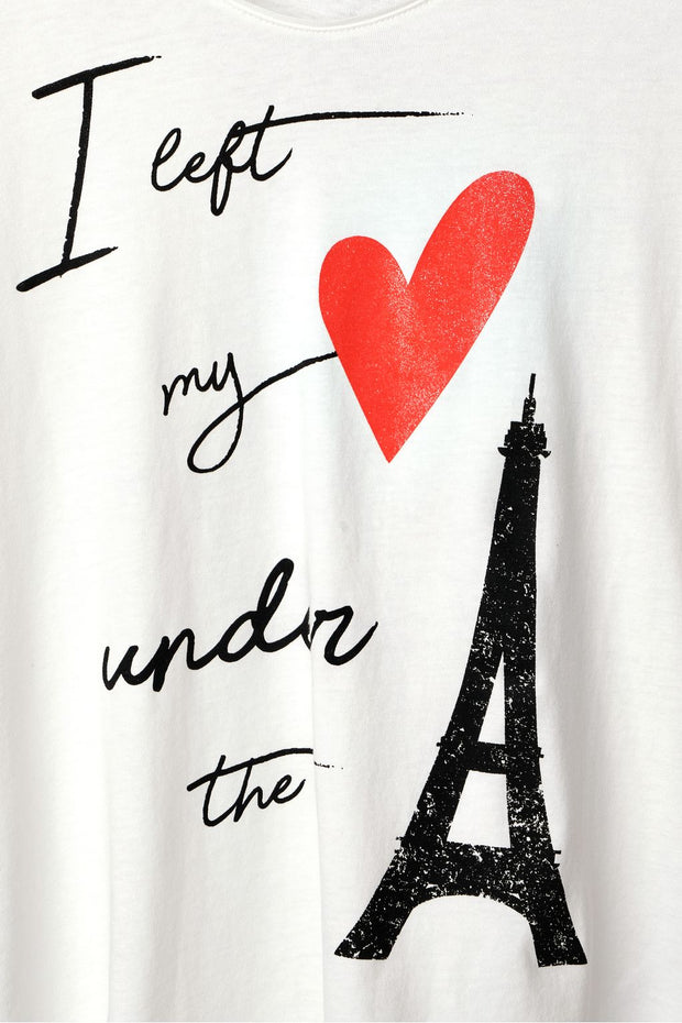 Street One - Vit T-shirt Eiffel Tower