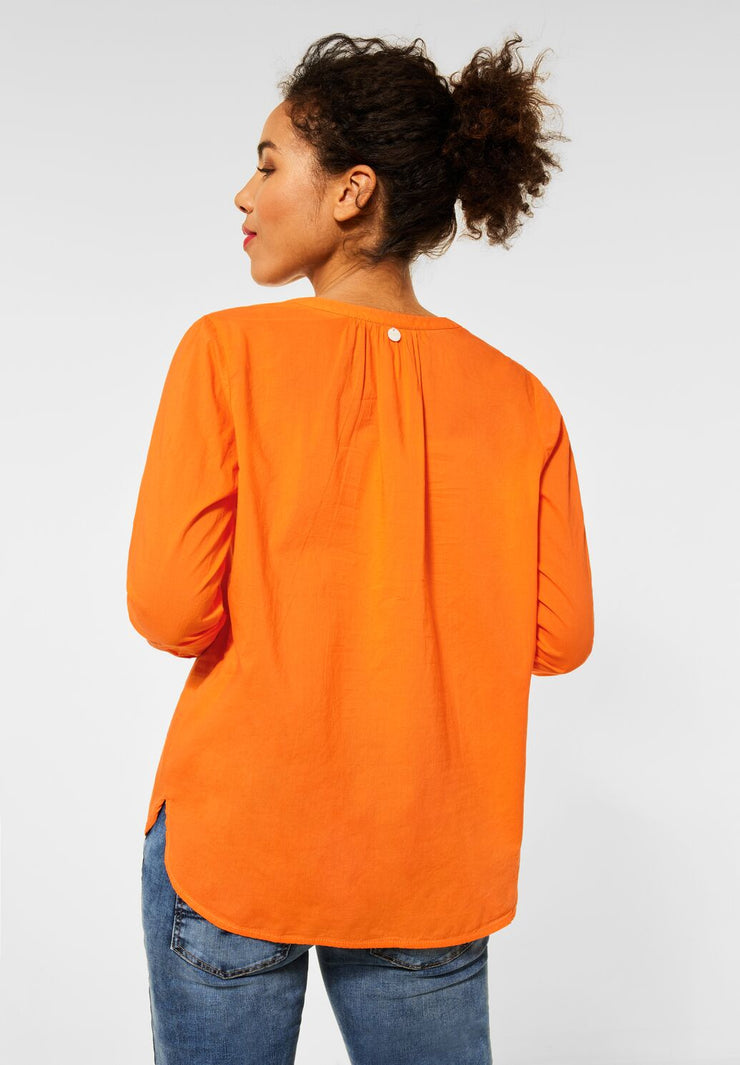 Street One - Orange blus i bomull