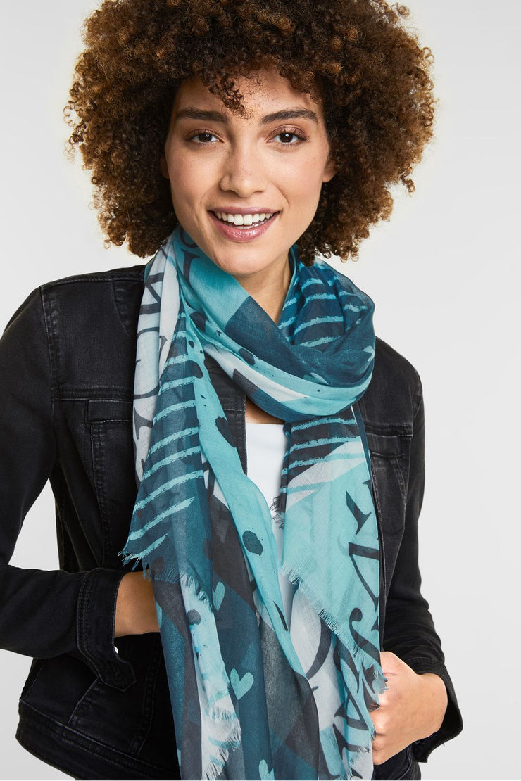 Street One - Patchwork-print scarf
