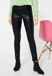 Street One - Leggings i skinn-look