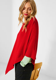 Street One - Poncho Blazing Red