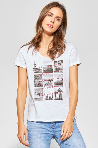 Street One - Vit T-shirt California