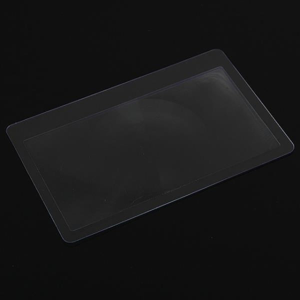 10pcs Ultrathin Card Style 3X Pocket Magnifiers Transparent