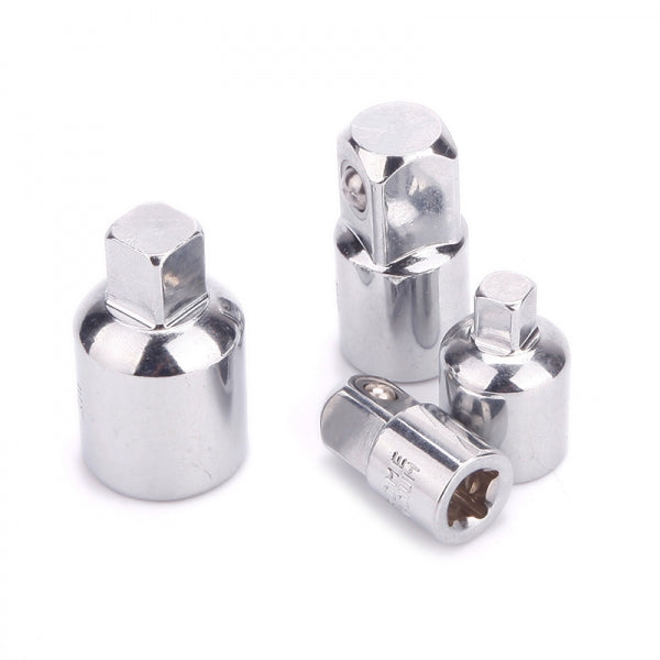 3/8inch-1/4inch Socket Ratchet Converter Reducers Adaptors Tool Set Silver