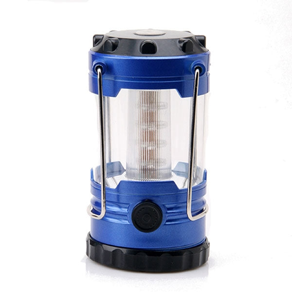 Outdoor 12-LED Camping Hiking Tent Emergency Light w/ Compass Blue