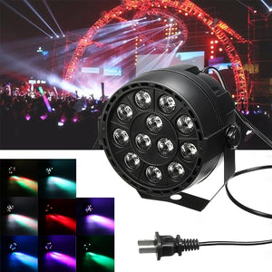 12W 12 LED RGB Party Stage Light Disco Club Projector Light US Plug