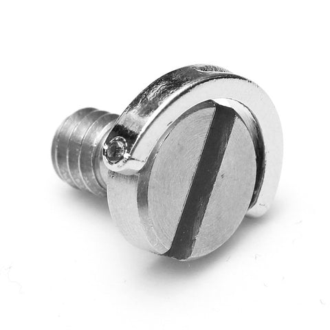 1/4inch Stainless Steel D-Ring Screw for Camera Tripod Monopod Silver
