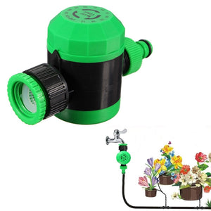 2 Hours Automatic Watering Timer Garden Water Pipe Controller Green