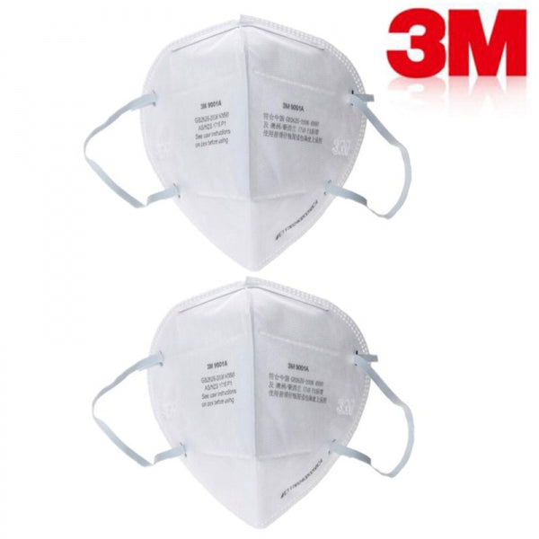 3M 9001A Ear Belt Type Non-toxic Folding Respirator Pm2.5 Dust Mask KN90 Standard White