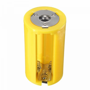 3 AA to 1 D Size Battery Adapter Holder 1.5V Case Box Converter Yellow