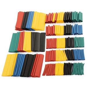 328pcs 2:1 Polyolefin Halogen-Free Heat Shrink Tube Sleeving 5 Color 8 Size