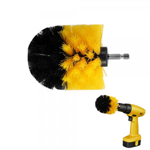 3.5 inch Dia. Electric Floor Cleaning Brush Drill Power Tool For Removing Stubborn Stains On Stone Mable Ceramic Tile - Yellow