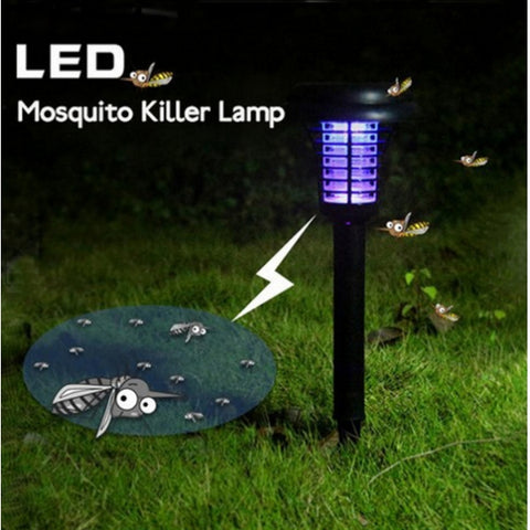 3pcs LED Solar Power UV Mosquito Zapper Killer Light Lamp
