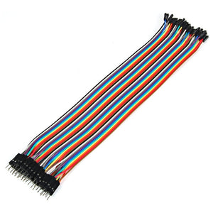 40pcs 30CM DuPont Male to Female Jumper Wires Cables Colorful