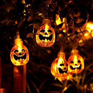 4M 40LED Battery Powered Pumpkin String Light for Halloween Decoration