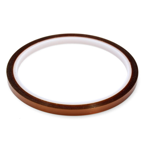 5mm x 30m High Temperature Polyimide Film Heat Resistant Tape Amber