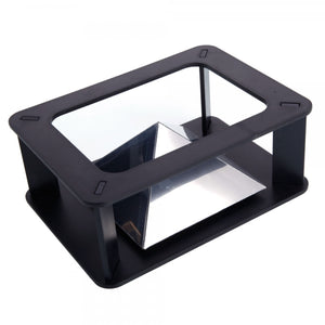 Acrylic Holographic 3D Display Projector for 3.5inch-5.5inch Smart Phones Black & Transparent