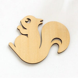 Animal Wooden Carved Coaster Tea Coffee Cup Mug Pad Table DecorationSquirrel