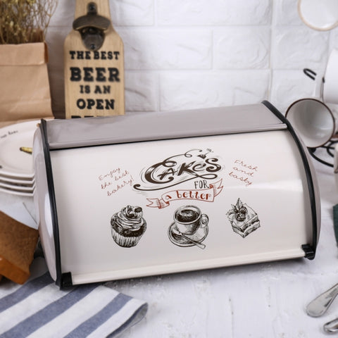 Metal Bread Box/Bin/kitchen Storage Containers with Roll Top Lid