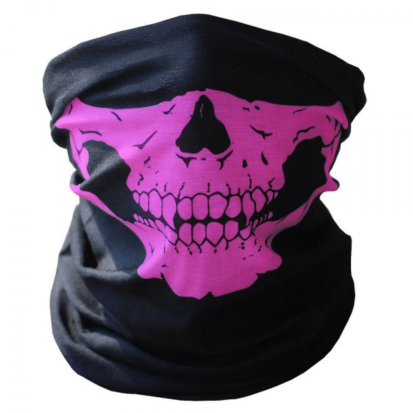 Multifunctional Seamless Changed Magic Scarf Halloween Costumes Skull Head Scarf Mask Purple