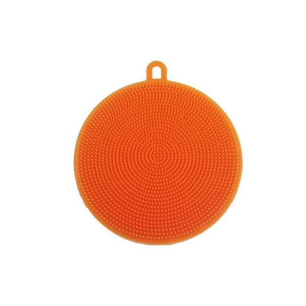 Multi-purpose Silicone Dish Washing Cleaning Brush Scrubber Heat-resistant Pad Coaster - Red