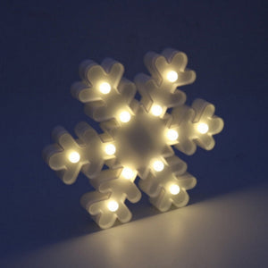 Novelty Party Decoration 3D Table LED Nightlight White Snow