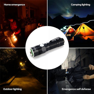UItraFire Flashlight XPE R2 Outdoor Lighting USB Charging Black