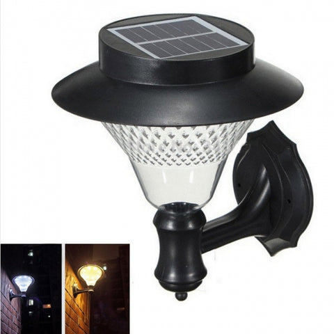 Solar Power 16 LED Wall Light Outdoor Garden Yard Pathway Waterproof Security Lamp Pure White