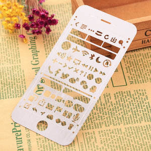 Stainless Steel Journal Stencils/Templates Ruler for Diary Painting - iPhone 6