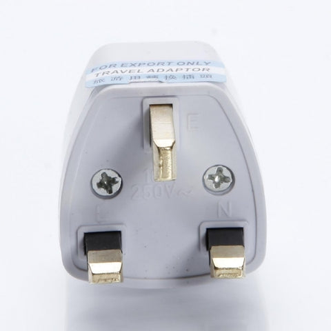 Universal EU US AU to UK 13A/250V Travel Power Charger Plug Converter