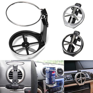 Universal Folding Drink Bottle Cup Holder Stand for Car Vehicle Silver