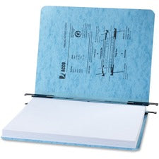 "Acco PRESSTEX Hanging Report Covers - 2"" Folder Capacity - Letter - 8 1/2"" x 11"" Sheet Size - 20 pt. Folder Thickness - Presstex - Light Blue - Recycled - 5 / Pack"