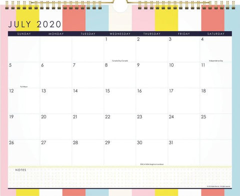 2021 At-A-Glance Katie Kime Stripes Wall Calendar