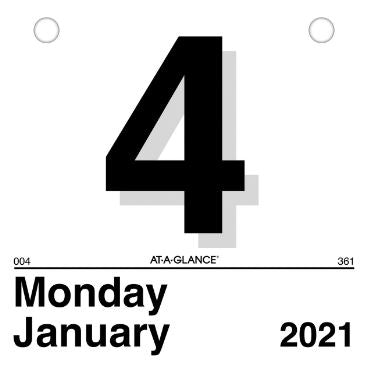 "2021 At-A-Glance ""Today Is"" Daily Wall Calendar REFILL"