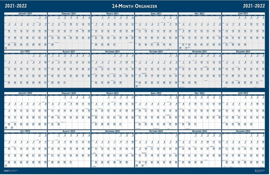 2021/2022 House of Doolittle 2 Year Wipe Off Classic Wall Calendar