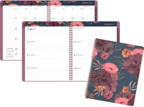 Dark Romance DATED Weekly/Monthly Planner - 13 mo