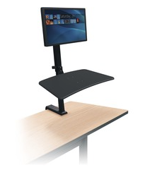 MooreCo™ Up-Rite Rear Mount Desk Mounted Sit/Stand Workstation