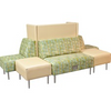 Eve Oasis Collection Armless Sofa with Back Panel