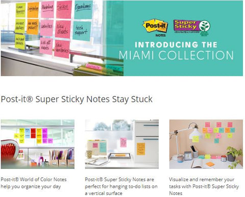 "Post-it® Super Sticky Notes 3"" x 3"" Marrakesh Collection Cabinet Pack"