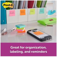 Post-it® Super Sticky Notes - Miami Color Collection