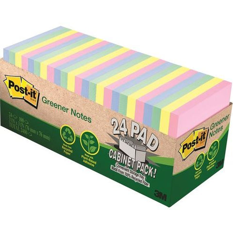 Post-it® Greener Notes Cabinet Pack - 24-pack