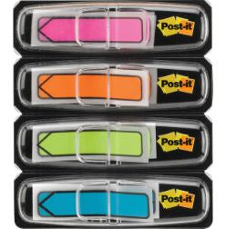 "Post-it® 1/2""W Arrow Flags -Bright Colors - 4 Dispensers"