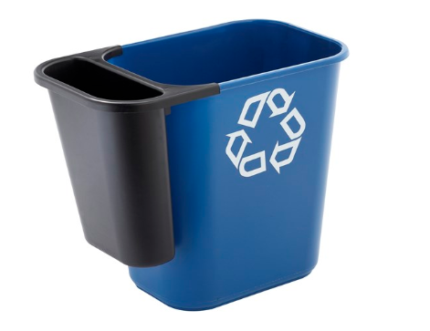 Rubbermaid Commercial Products® Recycling Side Bin Attachment