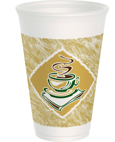 Dart Cafe G Design Foam Cups - 16 oz - 1000 ct